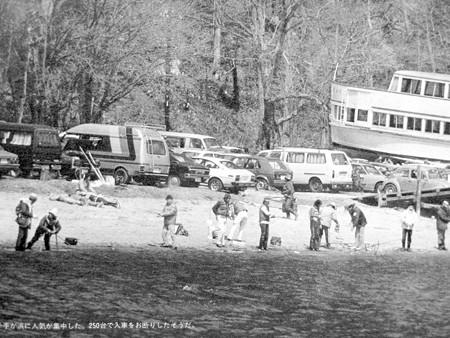 中禅寺湖の千手ヶ浜