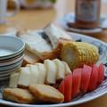 ブラパラで朝ごはん。