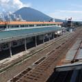 倶知安駅と羊蹄山