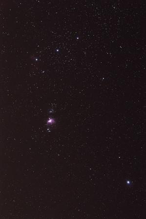 マクロレンズでオリオン大星雲