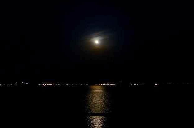 知多湾の月