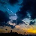 Photos: 夕焼けが赤くなる直前