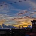 ダリの描いた空の様1@御殿場線岩波駅