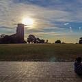 Photos: 雄大な空を前に座り込んでしまった/根岸競馬場跡