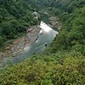 京都嵐山の清流と風景
