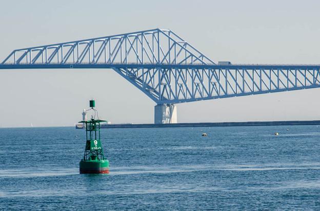写真: ブイ@恐竜橋を海上から見る2
