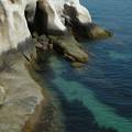 写真: 大久野島の海は綺麗でした