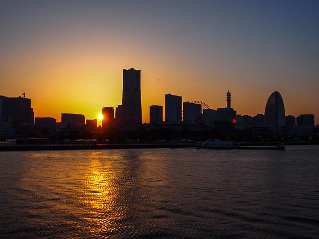 Photos: 横浜みなとみらいの落日