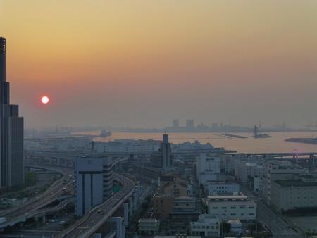 神戸の朝焼け