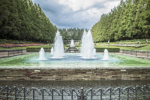 噴水,欧風庭園1@神奈川県立相模原公園にて