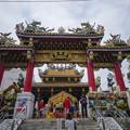 関帝廟では関羽さんのお祭りをやってました。