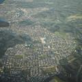 街の俯瞰@岡山空港から羽田までの機上にて