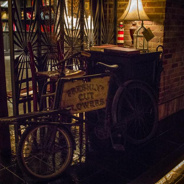 アンティークな自転車が、