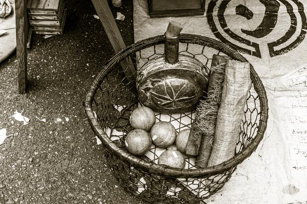 金属、木材、布、紐、篭@第四回東京蚤の市;2013秋