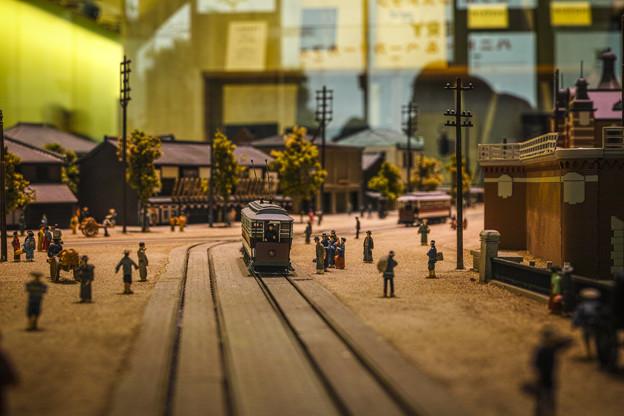 昔の東京のジオラマ@mAAch ecute@万世橋