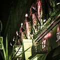 横浜、夜、炎