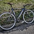 この自転車のフォルムがなんとなく美しいと思いました。