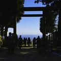 大山阿夫利神社の下社から、大空を