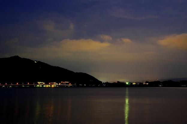 月光写真 河口湖大石公園04月光の夕焼け