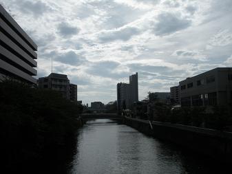東海橋から目黒川