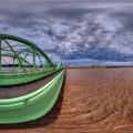 Photos: 2013年9月16日 台風で増水した安倍川 360度パノラマ写真(1) HDR