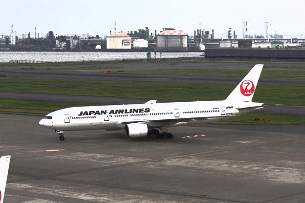 JAL ボーイング777-289 JA007D 水彩画