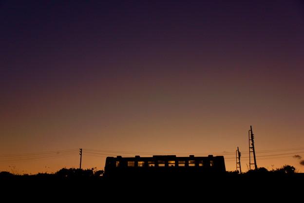 黄昏の三陸鉄道