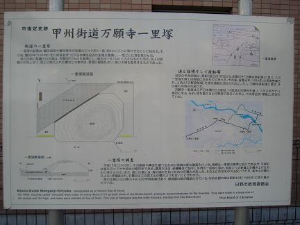 万願寺一里塚の説明板