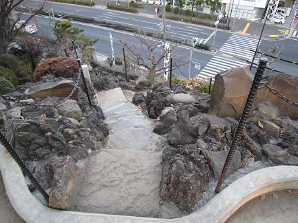 富士塚を見下ろすと…