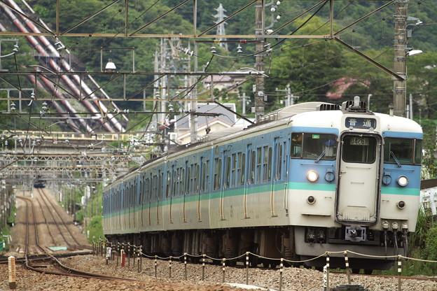 115系・上野原駅にて