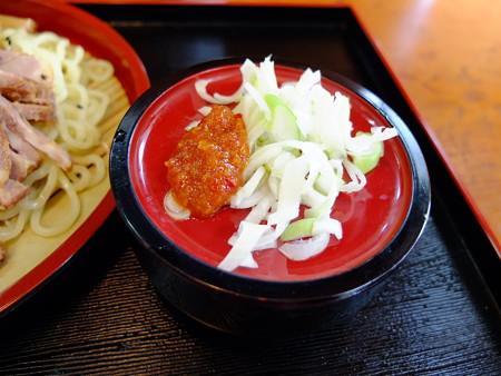 天ぷら五郎 つけラーメン 薬味アップ