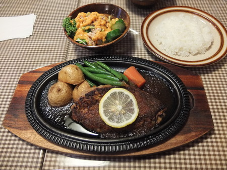 レストラン ココット テリヤキハンバーグ オススメセット(ツナサラダ)¥1980