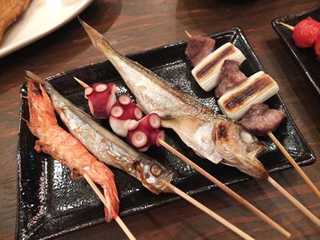 浜焼太郎 上越高田店 合わせ10本盛り(魚串のみ)¥1289