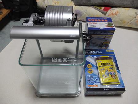 LEDライト付観賞魚飼育セット RG-20LE ¥5400(メーカー希望小売価格)