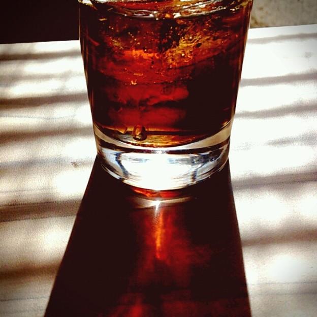 炭酸と夏の逆光