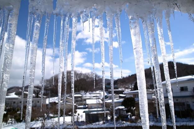氷柱の暖簾