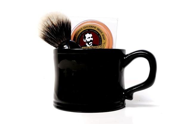 Black Mug and Brush Set