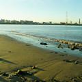 堤防の浜辺