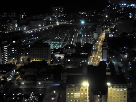 レトロ展望室からの門司港駅夜景