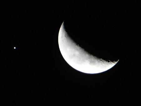 月と木星大接近(03:38)