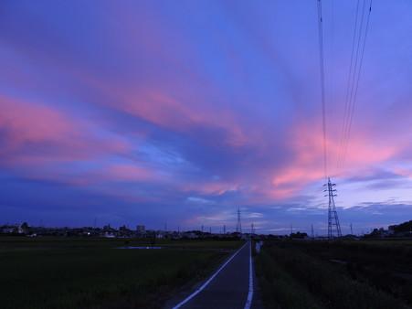 南空の夕焼け