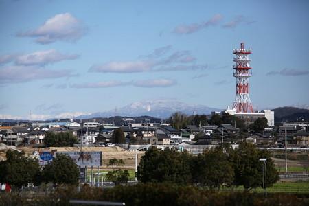 豊田スタジアムから恵那山方面を望む