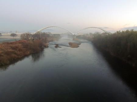 矢作川の朝霧