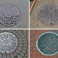 Photos: 堺市のマンホール4種