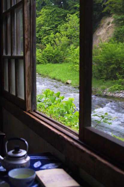 湯治場の朝