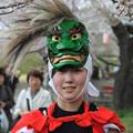 写真: 鬼剣舞の娘さん