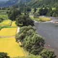 写真: 秋の最上川