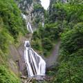 写真: 羽衣の滝に想いを