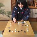 写真: 囲碁で寛ぐお正月