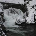 写真: 厳寒の二口峡谷